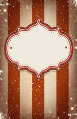 Vintage vector circus inspired frame with a space for text