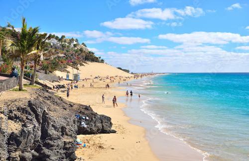 Beach of Morro Jable, Fuerteventura, Spain