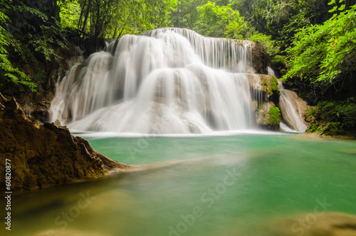 Deep forest Waterfall in Kanchanaburi
