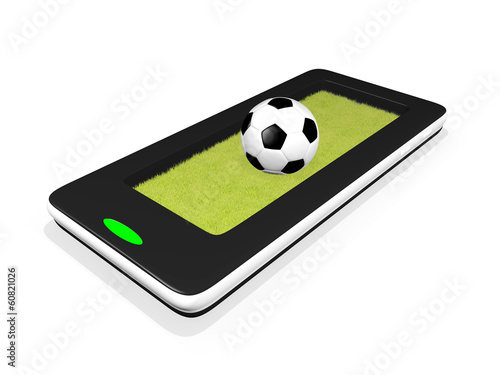 Football with lawn on a Smartphone