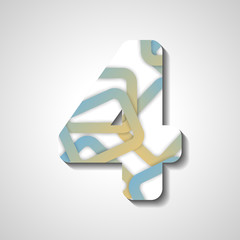 abstract illustration, number collection - 4