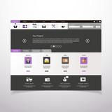 Corporate Website template. Creative web Multifunctional Design poster