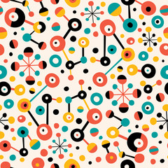 retro abstract art pattern