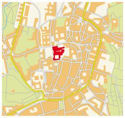 Santiago de Compostela, city map