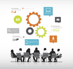 Real Business people with info graphic elements vector.
