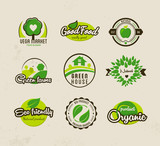 Eco bio natural labels