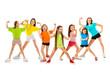 Leinwanddruck Bild - Happy sporty children