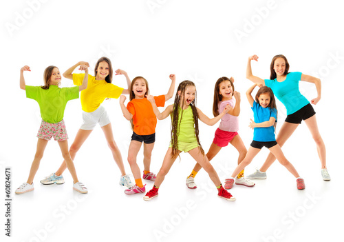 Leinwanddruck Bild Happy sporty children