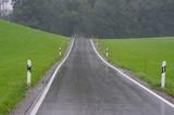 wet road landscape poster
