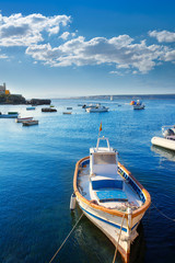 Tabarca islands boats in alicante Spain