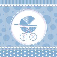 blue boy baby stroller