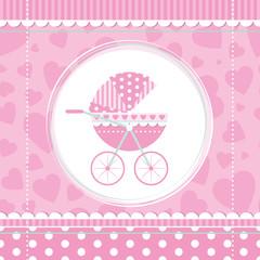 pink girl baby stroller