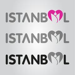 istanbul tulip heart logo