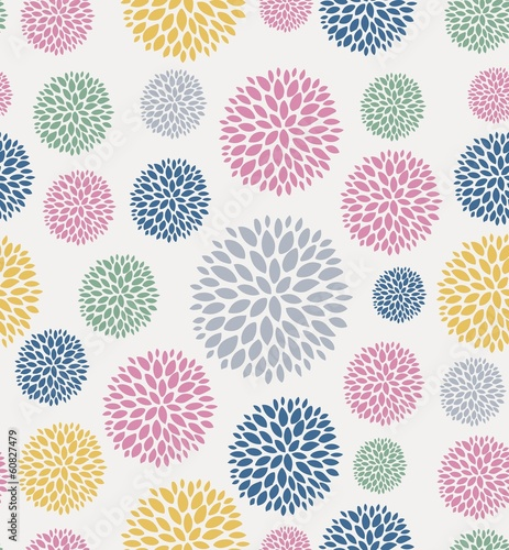 Seamless floral pattern. Flowers texture - 60827479