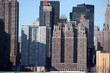 View New York city Manhattan from Long Island, USA