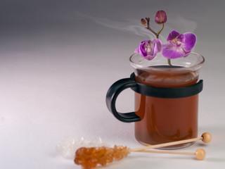 Tasse Tee mit Candis