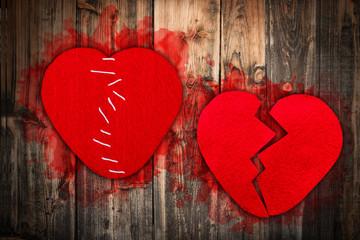 Broken heart concept
