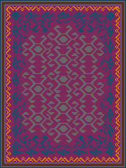 Carpet Design in Oriental Style
