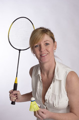Portrait of a badminton player