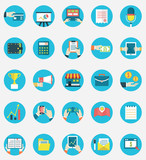 Set of business internet service and ecommerce icons