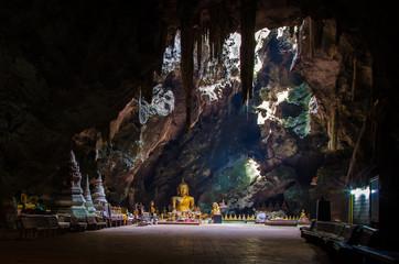 Tham Khao Luang Temple Cave and Sunlight in Phetchaburi