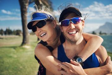 Fitness couple portrait