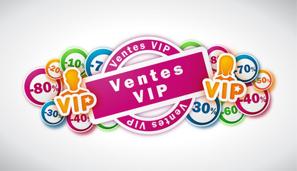 Ventes VIP - Illustration vectorielle