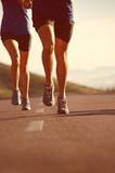 Fototapeta Running couple fitness