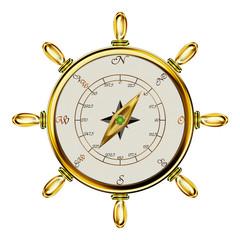 Steuerrad mit Kompass