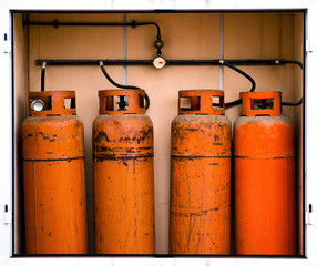 Fours gas container