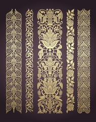 paisley floral designs , wedding card, royal India