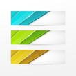 Colorful vector abstract banners