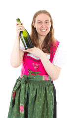 Younger woman presenting new wine
