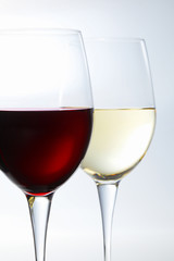 赤ワインと白ワイン red wine and white wine
