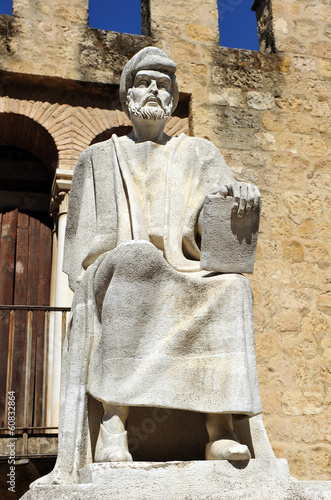Averroes, arab philosopher, ramparts of Cordoba, Spain