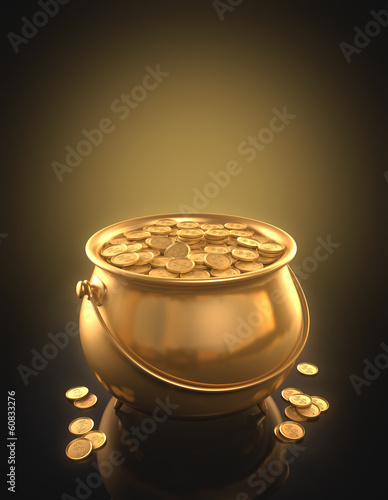 Gold coins. Clipping path included.