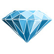 Diamond on white background - 60833449