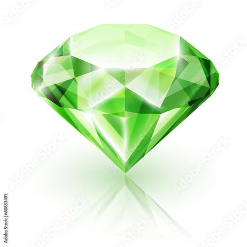 Emerald isolated on white - eps10