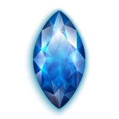Marquise cut sapphire