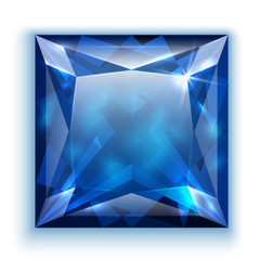 Princess cut sapphire icon