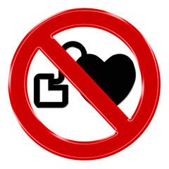 Verbotszeichen Herzschrittmacher