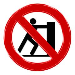 Verbotszeichen - Schieben verboten