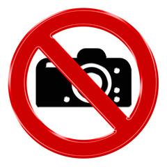 Verbotszeichen - Fotografieren verboten