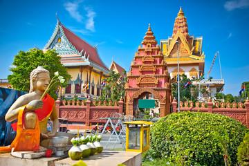 Wat Ounalom Pagoda, Phnom Penh, Cambodia.
