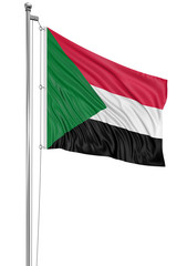 3D flag of Sudan