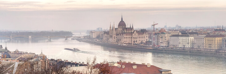 Panoramic view of city Budapest