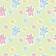 Bears Toys Seamless Pattern