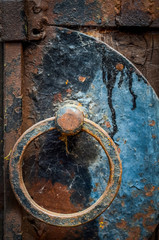 Rusty Door Handle With Cobwebs