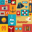 summer flat background