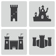 Vector black castle icons set - 60836096